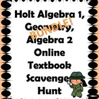 Holt Algebra 1, Geometry, Algebra 2 Online Textbook Scaven