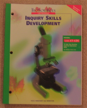 Holt BioSources Inquiry Skills Development Lab Manual Teacher Ed.
