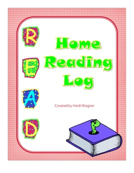 Home Book Reading Log