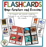 Home, Furniture & Ocassions Flashcards & Games {36 Flashca