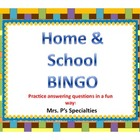Home and School BINGO: Language based game