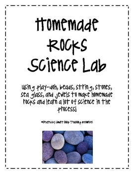 Homemade Rocks Science Lab and Posters