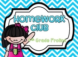 Homework Club Header and Numbers