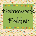 Homework Folder Cover