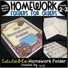 Homework Folder for Olders - Giddy Up and Learn!  {Wild We
