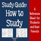 Homework Help: Study Guide (Common Core Aligned)