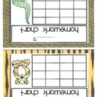 Homework Incentive Charts-Animal Print