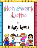 Homework Lotto and Behavior Lotto Games