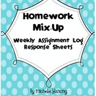 Homework Mix-Up:  Assignment Log Response Sheets