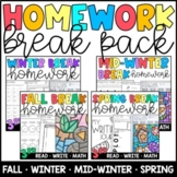 Homework Packet BUNDLE: for Winter, Mid Winter, & Spring B