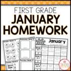 Homework Packet {January 2014 | First Grade}