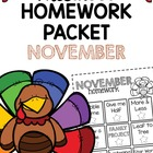 Homework Packet- November