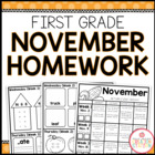 Homework Packet: First Grade | November