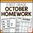 Homework Packet {October 2013 | First Grade}