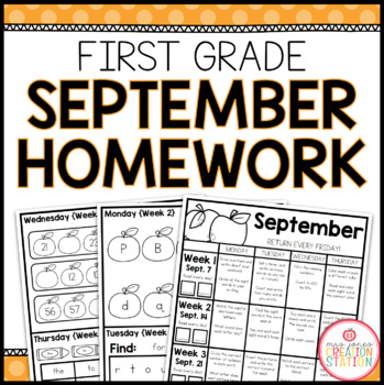 Homework Packet {September 2013 | First Grade}