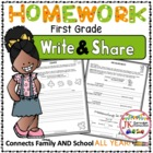 Homework Packet for First Grade: Write &amp; Share (Common Cor