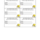 Homework Pass- Postive Reinforcement Tool