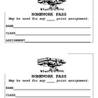 Homework Passes For Any Class
