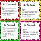 Homework Passes (Reward Students/Colorful)