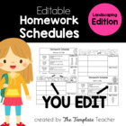 Homework Schedule Templates