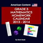 Homework - U.S. Grade Three Math Homework Calendar 2013-20