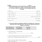 Homework or classwork worksheet using comparatives