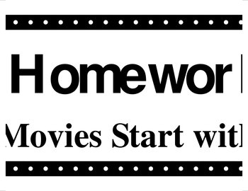 Homework to Hollywood Bulletin Board Printables - Alternat