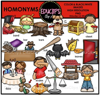 Homonyms Clip Art Bundle
