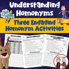 Homonyms: Fun Writing Activity When Teaching Homonyms (+KEY)