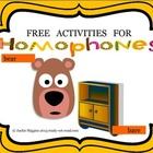 Homophone Activities (Bear Says Thanks)