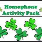 Homophone Activity Pack for St. Patrick's Day
