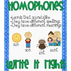 Homophone Game and Worksheet {FREEBIE}