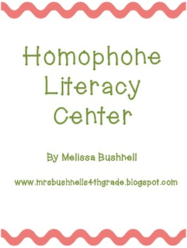 Homophone Literacy Center