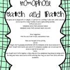 Homophone Match and Patch!