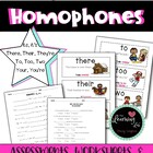 Homophone Posters and Worksheets--Commonly Confused Words