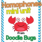 Homophone Unit: Centers, Activities, Review Sheets &amp; Flash Cards
