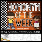 Homophone Unit of Study