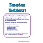 Homophone Worksheets #3 -  Six Pages + Answer Keys