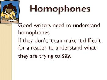Homophones For CPS Clickers