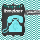 Homo'phones' Unit { Craftivity, Center, Worksheets and mor