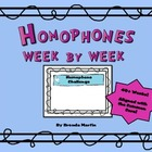Homophones Week by Week