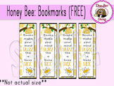 Honey Bee: Bookmarks (Free)