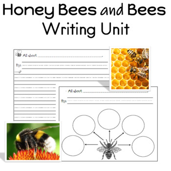 Honey Bees and Bees Writing Unit for Prek to 1st Grade