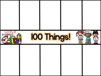 Hooray for 100 Days!!