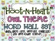 &quot;Hoot-N-Heart&quot; Owl Theme Word Wall Set 