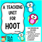 Hoot Novel Unit, Activities, Handouts, Tests