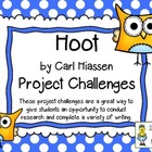"""Hoot"" by Carl Hiassen, Project Challenges ~ Research & Wr"