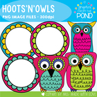 Hoots'n'Owls - Graphics for Commercial Use