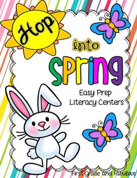 http://www.teacherspayteachers.com/Product/Hop-Into-Spring-Easy-Prep-Literacy-Centers-651293