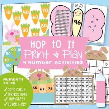 Hop To It! - Spring / Easter Math Packet - Numbers to 100